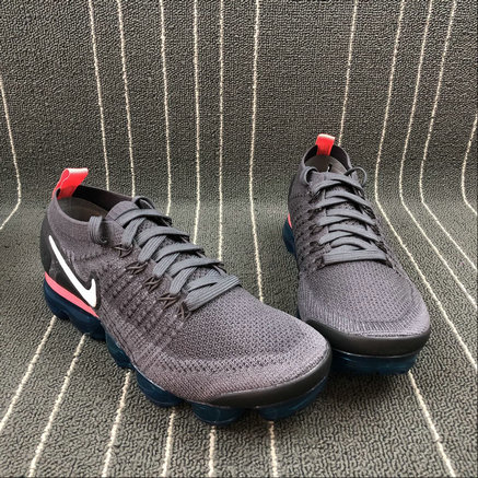 buy popular faf50 f5493 ... Cheap Wholesale Nike Air Vapormax FLYKNIT 2.0 942842-009 Thunder Grey  White Geode Teal Gris ...