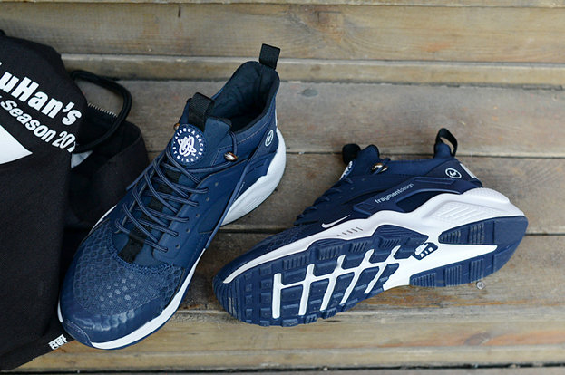c865ed08f8b6 ... New 2018 Nike Huarache Cheap Wholesale x Nike Air Huarache Fragment HTM  Navy Blue White -