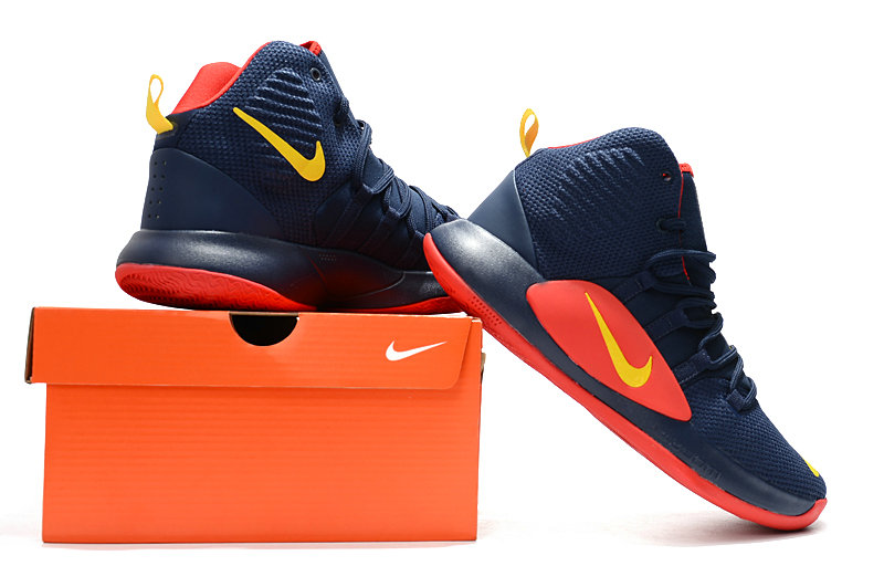 Wholesale Cheap Nike Hyperdunk 2018 For Womens Navy Blue Red Yellow -  www.wholesaleflyknit. 31c949c2bf