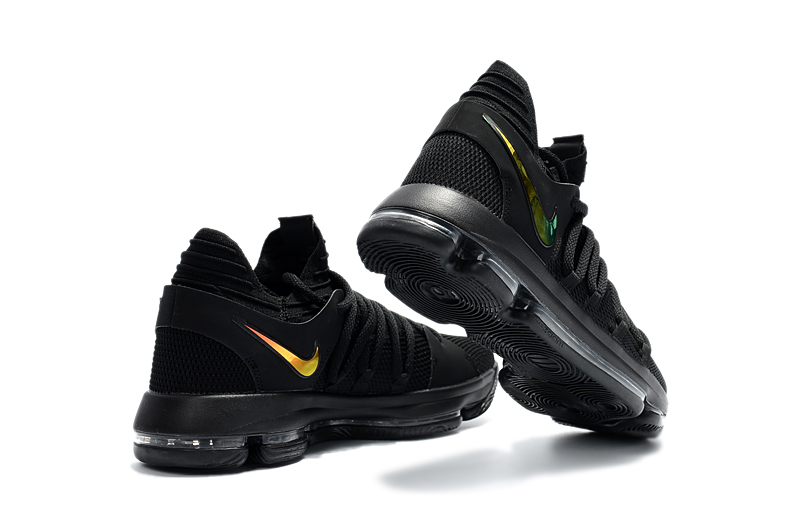 Wholesale Cheap Nike KD 10 PK80 PE Black Metallic Gold For Sale - www.wholesaleflyknit.com