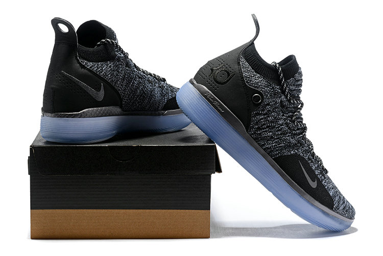Cheap Wholesale Nike KD 11 AO2605-004 Flyknit Black Grey- www.wholesaleflyknit.com