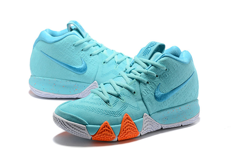 c996225354d1 ... Cheap Wholesale Nike Kyrie 4 Irving Basketball Shoes Orange White Apple  Green- www.wholesaleflyknit ...