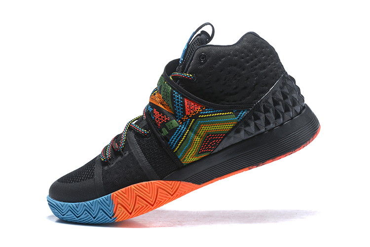Wholesale Cheap Nike Kyrie S1 Hybrid BHM Black Multi-Color For Sale - www.wholesaleflyknit.com