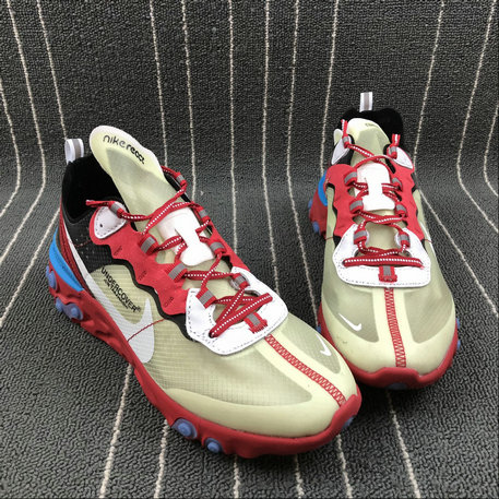 low priced db06e 55cab ... Cheapest Wholesale Nike React Element 87 Undercover Hyaline Big Red  White Blanc Transparent Rouge - www