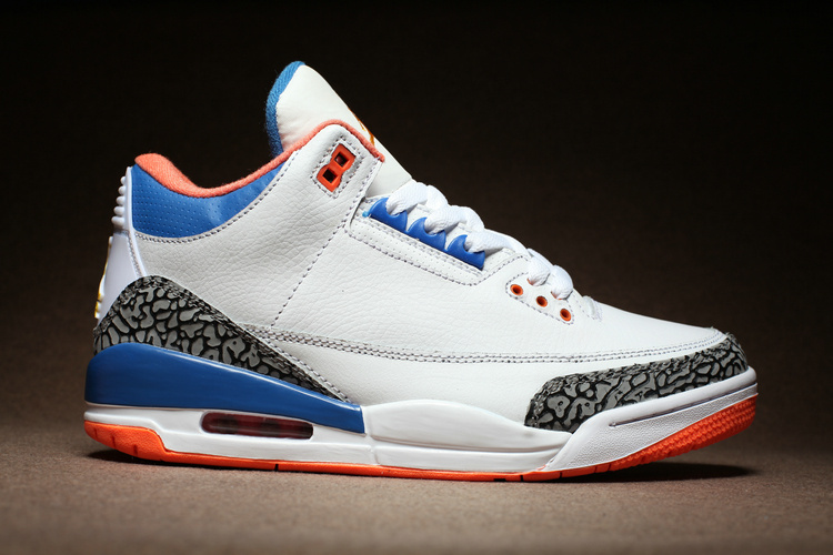 aa594c97bbed ... Wholesale Cheap Russell Westbrook Air Jordan 3 OKC White Cement Blue  Orange For Sale - www