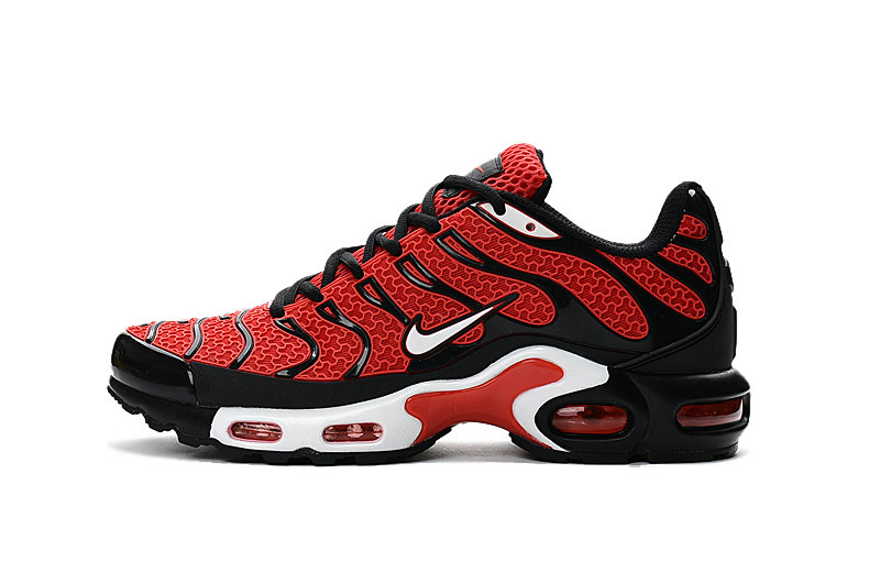 Wholesale Cheap Customize Nike TN Shoes Nike Air Max Red Black White - www.wholesaleflyknit.com