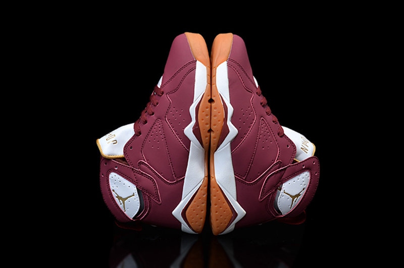 Wholesale Cheap Girls Air Jordan 7 Cigar Team Red White-Gum Light Brown - www.wholesaleflyknit.com