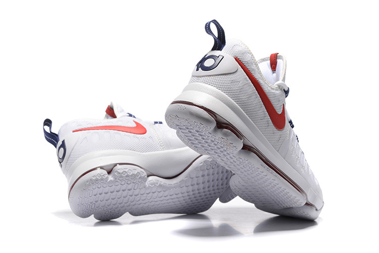 pretty nice 10440 5bf08 ... Wholesale Cheap KD 9 USA White University Red-Race Blue 2016 For Sale -  www ...