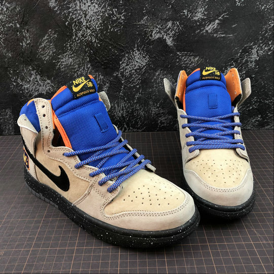 Wholesale NIKE DUNK HIGH PREMIUM SB MENS 313171-207 GRAIN Black sndtrp brght mndrn noir sblbeg-www.wholesaleflyknit.com