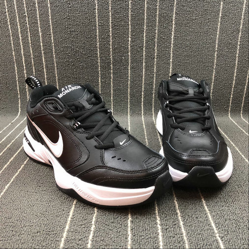 Wholesale Nike Air Monarch IV 415445-002 Black White Noir Blanc- www.wholesaleflyknit.com