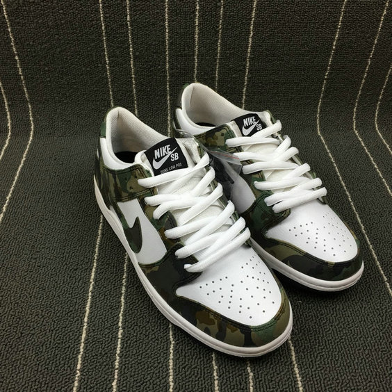 Wholesale Nike Dunk SB Low Pink Pro Black Gum Mens 854866-331 Legion Green Vert Legion Blanc-www.wholesaleflyknit.com