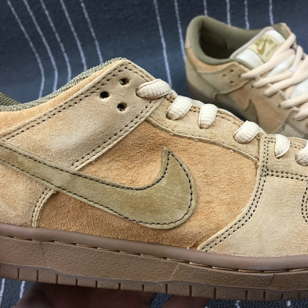 Wholesale Nike Dunk SB Low TRD QS Mens 883232-700 Dune Twig Wheat Gum Med Brown Bleat Brindille-www.wholesaleflyknit.com