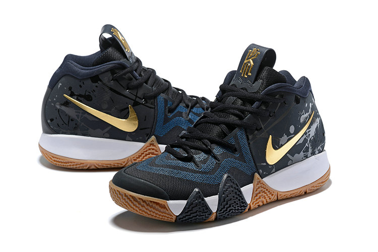 9ac7564a75f1b3 Wholesale Nike Kyrie Irving 4 Cheap Black Gold White Navy Blue On  www.wholesaleoffwhite.