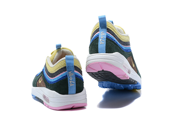 Wholesale Cheap Sean Wotherspoon x Nike Air Max 1 97 VF Sneaker Black Blue Yellow Pink - www.wholesaleflyknit.com