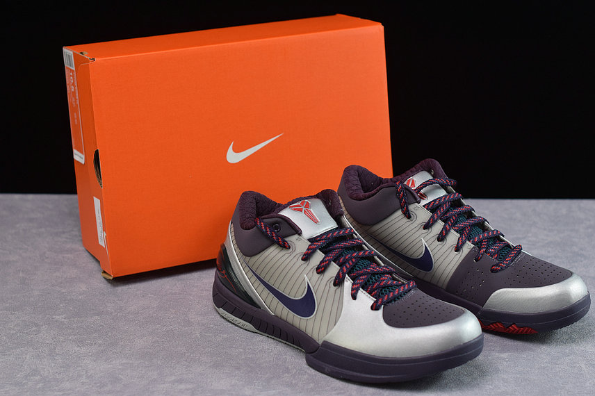 Where To Buy Cheap Wholesale Nike Kobe 4 Chaos Joker Metallic Silver Abyss-Nightshade 344335 051 - www.wholesaleflyknit.com