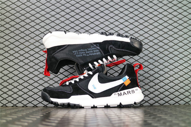 Where To Buy Wholesale Cheap Off White x Tom Sachs x Nike Craft Mars Yard 2.0 Black White Red AA2261 001 - www.wholesaleflyknit.com