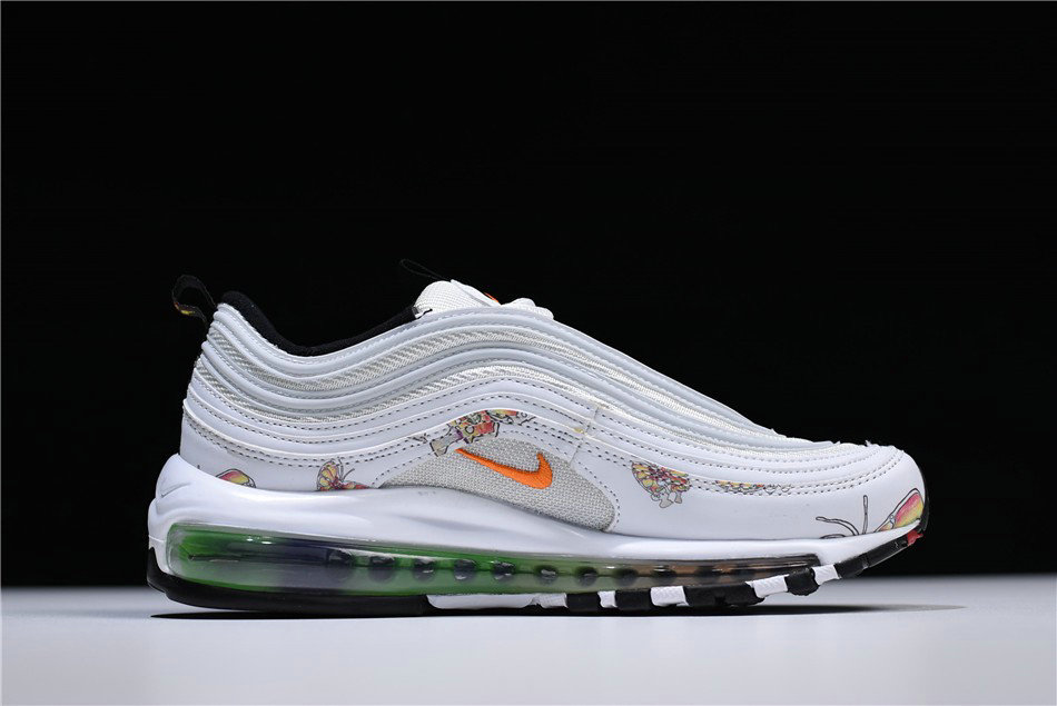 Cheap Wholesale Womens Nike Air Max 97 Butterfly White Orange Shoes Free Shipping - www.wholesaleflyknit.com
